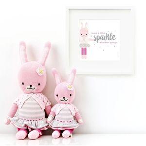 Cuddle + Kind doll & print - Chloe the Bunny